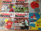 Manchester United 2012-2013 Season Match Day Programmes - Your Choice