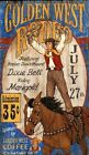 GOLDEN WEST RODEO ~ Handcrafted Custom Wood Sign w/ Your Name ~ by PLD