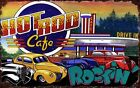 HOT ROD CAFE  ~  ~ Handcrafted Custom Wood Sign w/ Your Name ~ by PLD