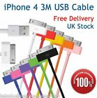 3M Sync & Charger USB Data Cable For iPhone 4 4S 3 3GS iPad 3 2 iPod 1 2 3