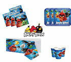 ANGRY BIRDS BIRTHDAY PARTY TABLEWARE