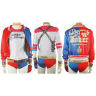 Suicide Squad Harley Quinn Jacket Coat Outfit Halloween Cosplay Costume Women