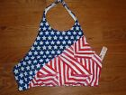 VICTORIAS SECRET STARS STRIPES RED WHITE BLUE PATRIOTIC HALTER TYPE SWIM TOP NWT