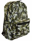 GFM Army Camouflage PU Leather Waterproof Backpack For School College Casual Gym