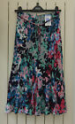 M&S Classic Collection swingy skirt~Multicolour flowers~Mid length~New~8~rrp £25