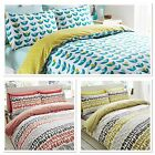 Reversible Lotta Jansdotter Designer Coral Follie Bedding Duvet Cover Set
