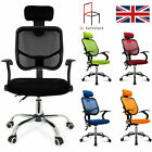 Office Computer Chair Desk  High Adjustable Mesh Seat Executive Fabric Furniture
