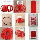 Girls Hair Accessories For School Red Elastics Headbands Scrunchies Clips Etc