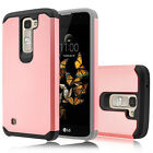 Hybrid Rugged Rubber Slim Hard Armor Case Cover for LG Phoenix 2 / Escape 3 /K8
