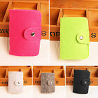 Women Credit Card Cash Holder Ladies Felted Wool Small Pocket Organizer Case Box
