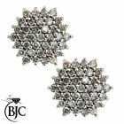 BJC® 9ct Yellow Gold Round Cut Diamond Cluster Stud 2.00ct Earrings Studs ER42