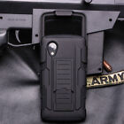 for Samsung Galaxy Phone Military Rugged Hybrid Case Kickstand & Clip Holster