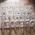 8X1.2cm (thick) Wood Wooden White Letters Alphabet Wedding  Birthday Decor