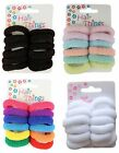 Set of 12 Small Coloured Hair Donuts Ponios Bobbles Bands - Hair Accessories