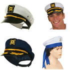 Nautical Themed Hats Choose Your Hat Sailor Hat Cap Yacht Captain White Blue