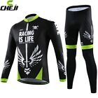 CHEJI Sword Cycling Jersey Long Sleeve Pants Winter Cycling Clothing Long Kit