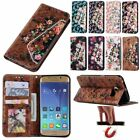 Bling Flower Flip Leather Wallet Card Stand Cover Case For Samsung Galaxy Note 7