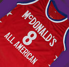 KOBE BRYANT #8 McDONALD'S ALL AMERICAN JERSEY McDONALD RED SEWN NEW ANY SIZE