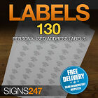130no. PRINTED ADDRESS LABELS Self Adhesive Return Address PERSONALISED LABELS