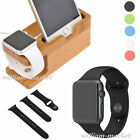 New Strap Long Band+Bamboo Charger Dock Stand for Apple Watch 38/42mm iPhone 6s