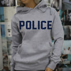LIVES MATTER PROUD US POLICE BLUE Womens Gray Hoodie