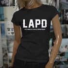 Proud Blue LAPD Los Angeles Police Department Womens Black T-Shirt