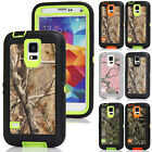 Tree Camo Shockproof Defender Rubber Hard Case Cover For Samsung Galaxy S5 S4