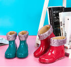 New Style Fashion Women Rain Shoes/Boots Ankle Waterproof Keep Warm Detachable