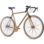 "28"" Zoll FIXIE RENNRAD FAHRRAD CHRISSON FG ROAD 1.0 FIXED GEAR SSPEED gold matt"