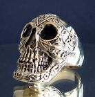 """MENS BRONZE """" DIABOLO HELL SKULL WITH CELTIC TATOOS"""" - US Sizes 6 - 20"""