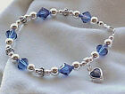 Birthday Month Color Swarovski & Sterling Hand-Crafted Bracelet -- Buyers Choice