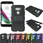 Rugged Shockproof Hybrid Rubber Hard Impact Armor Case Cover For LG Smartphones
