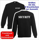 SECURITY  Sweatshirt Pullover schwarz S-3XL SE3