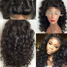 Fashion New  Pretty loose Wave Lace Front  Wigs 100% remy human hair Baby Hair