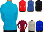 Womens Ladies Fluffy Stretchy Turtle Neck Long Sleeve Jumper Size 6 8 10 12