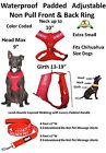 DO NOT PET Vest Harness & Leash Set Padded Rainproof  Ex S M L Red Color Coded