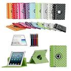CLEARANCE!!! 360° Smart Cover Stand For iPad 4 3 2 w/ Screen Film & Touch Pen -3