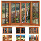 Faux - Fake Window Illusion - Wooden 4 Pane Bay Window - Various Views