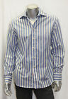 Men's Rufus Lt.Blue/White Striped Long Sleeve Button Down Shirts