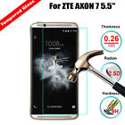 """HD Ultra Clear Premium Tempered Glass Screen Protector Guard For ZTE AXON 7 5.5"""""""
