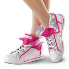 NEW Gotta Flurt High Justice Pink Silver White Hip Hop Jazz Dance Shoes Sneakers