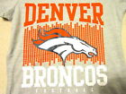 NFL 2017 V NECK JUNIORS 7-9 / 11-13 Denver Broncos Women's Raglan Blouse Shirt