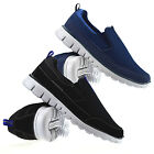 Mens Casual Slip On Memory Foam Walking Pumps Plimsolls Gym Trainers Shoes Size