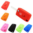 Silicone 2 Buttons Fold Key Case Remote Cover for Peugeot 208 207 3008 308 408