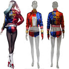 Donne Harley quinn Suicide Squad Costume Cosplay Abito completo Arlecchino XS-3X