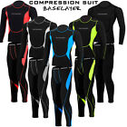 Mens Compression Suit Activewear Sports Cycling Base Layer Tights Under Tops