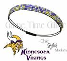 Minnesota Vikings Team Color Womens Rhinestone Bling Headband Wear w/ Jersey NWT