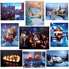 Premier Christmas 40cm x 30cm LED Light up Canvas Picture - Choose Design