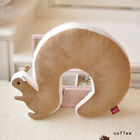 Soft Travel U-shaped Pillow Air Cushion Neck Rest Squirrel Tail Useful