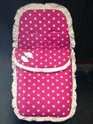 BRAND NEW STARS PRINT FOOTMUFF / COSYTOES PLAIN FRILL TO OUTER & BOW